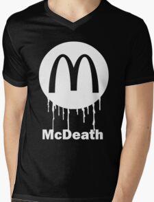 Mcdeath (white) Mens V-Neck T-Shirt