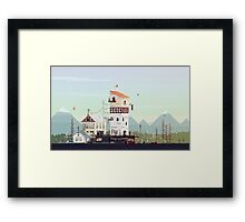 Celebration: Retro Pixel Art  Framed Print