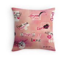 love words Throw Pillow