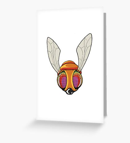 New School Surreal Fly Greeting Card