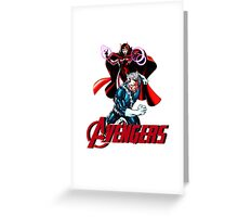 Avenger Twins - Scarlet Witch and Quicksilver Greeting Card