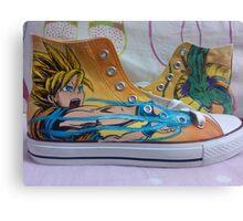 Dragon Ball Z Anime Shoes Canvas Print
