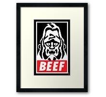 Obey Beefsquatch Framed Print
