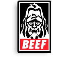 Obey Beefsquatch Canvas Print
