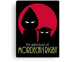 The Adventures of Mordecai & Rigby Canvas Print