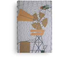 Outback Web of Flies Canvas Print