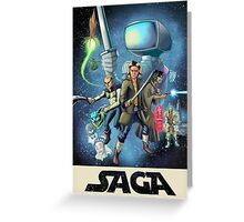 Saga - Movie Poster Greeting Card