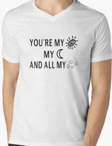 You're My Sun My Moon And All My Stars Mens V-Neck T-Shirt