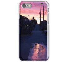 Lane rain reflection iPhone Case/Skin
