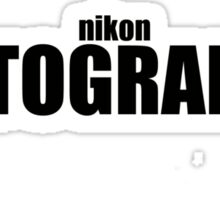 Nikon Photographer (Black) Sticker