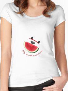 sweet summer  Women's Fitted Scoop T-Shirt