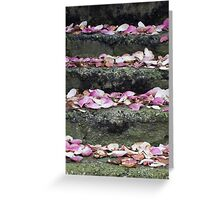 Petal staircase Greeting Card