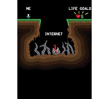 Internet vs Life Goals Photographic Print