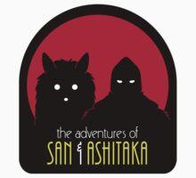 The Adventures of San & Ashitaka (Sticker) by DrRoger