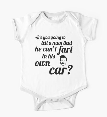 Fart in his car One Piece - Short Sleeve
