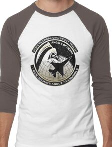Funny Girl Scout Parody Men's Baseball ¾ T-Shirt