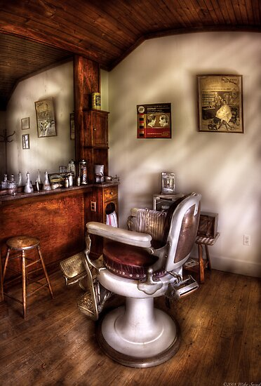In The Barber Shop by Mike  Savad