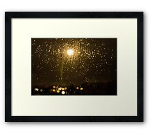 Rainy night in Vancouver (horizontal). Framed Print