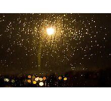 Rainy night in Vancouver (horizontal). Photographic Print