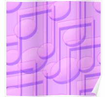 Purple Music Notes  Poster