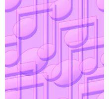 Purple Music Notes  Photographic Print