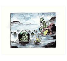 Creepy Mermaids Art Print