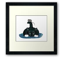 Mouse Balances on a Cat Tail Framed Print