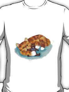 Kitty Hugs Teddy Bear T-Shirt