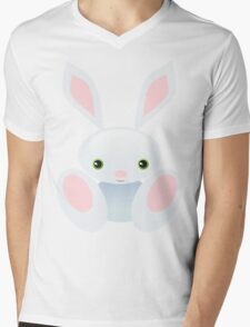 Little Blue Baby Bunny - The Wisley Mens V-Neck T-Shirt