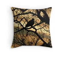 Silhouetted Dove Throw Pillow