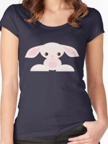 Little Pink Baby Bunny - The Shy Women's Fitted Scoop T-Shirt