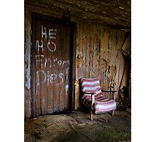 He Ho Enters Dies Photographic Print