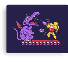 Pew Pew // Metroid Canvas Print