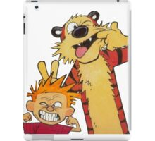 calvin and hobbes yucks iPad Case/Skin