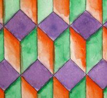 Geometric Watercolor Pattern Sticker