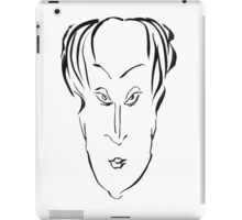 Abstract sketch of face X iPad Case/Skin