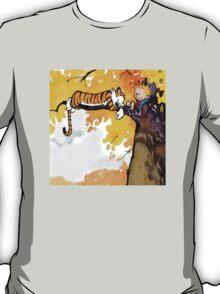 sleeping calvin and hobbes T-Shirt