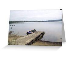 Pier at Killarney Lakes Co. Kerry Ireland Greeting Card