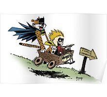 Calvin and Hobbes cosplaying Poster