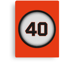 40 - Mad Bum (on orange) Canvas Print
