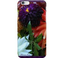 Bouquet of Love ~ Dahlias iPhone Case/Skin
