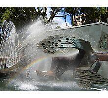 Newcastle (NSW) - Civic Fountain Rainbow Photographic Print
