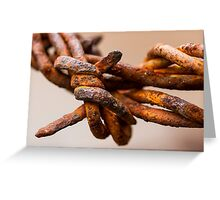 Rusty Barbed Wire Greeting Card