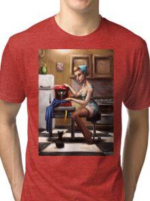 Pin Up Seamstress Tri-blend T-Shirt