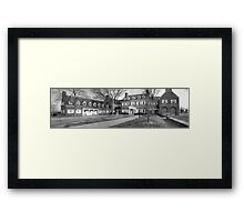 Hayfield House Panorama Framed Print