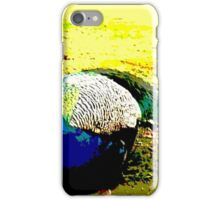 peacock posterized iPhone Case/Skin