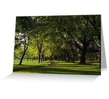 Sunny August Afternoon in the Park Greeting Card