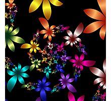 Spiraling Spring flowers Photographic Print