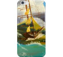 Sailing Ship in a Storm iPhone Case/Skin