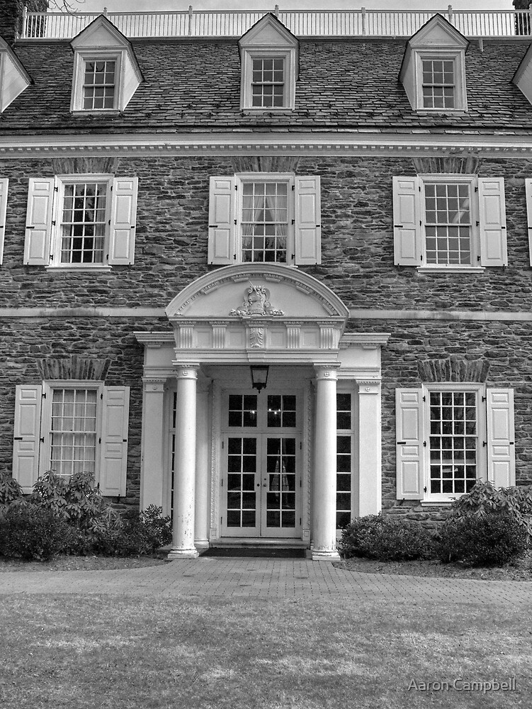 Hayfield House Front Entry by Aaron Campbell